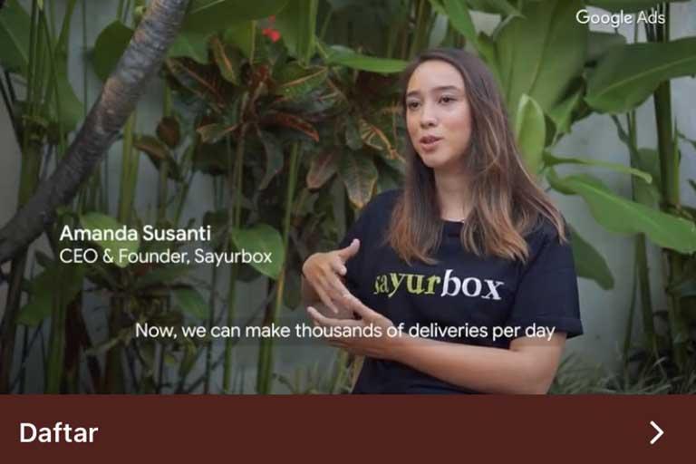 Video Google Ads, Sayurbox